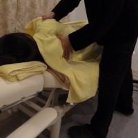 妊婦さんへの肩甲骨周囲の整体マッサージ